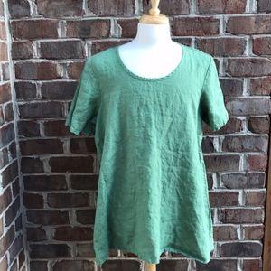 FLAX Linen Green Tunic